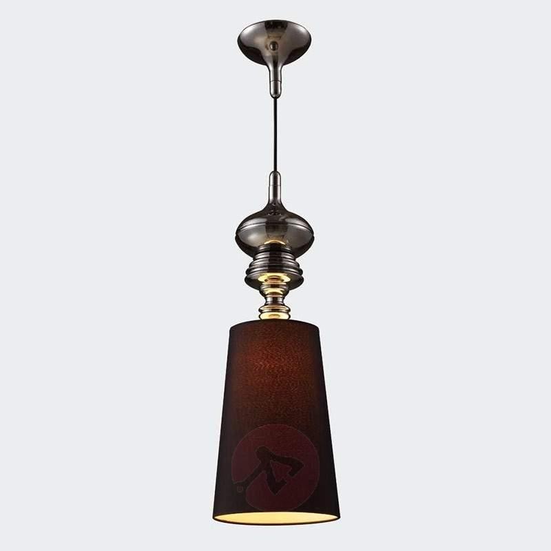 Classical hanging light POLO in black chrome - Pendant Lighting