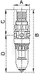 Filter regulator Standard-mini , Metal container, 5 m, G 1/4 - Filter regulator with metal bowl, incl. pressure gauge and panel nut