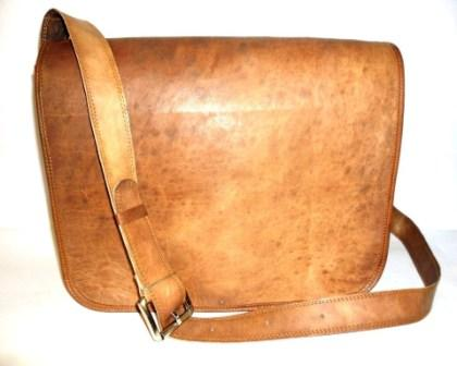 Leather Messenger Bag - Leather Messenger Cum Office Bag