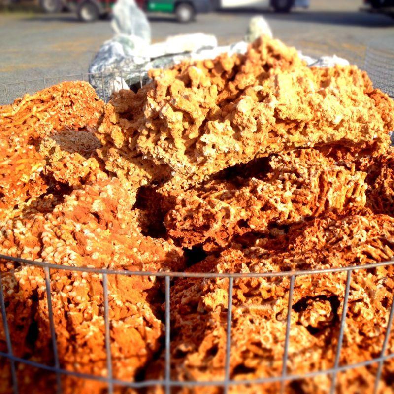 Gros galet au détail - Bloc calcaire Spaghetti au détail