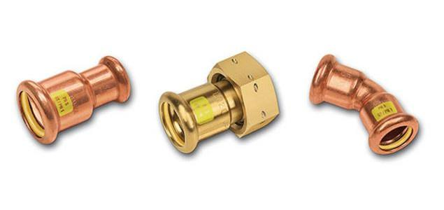 Kupfer-Rohrleitungssystem SANHA®-Press Solar - Kupferfittings, FKM