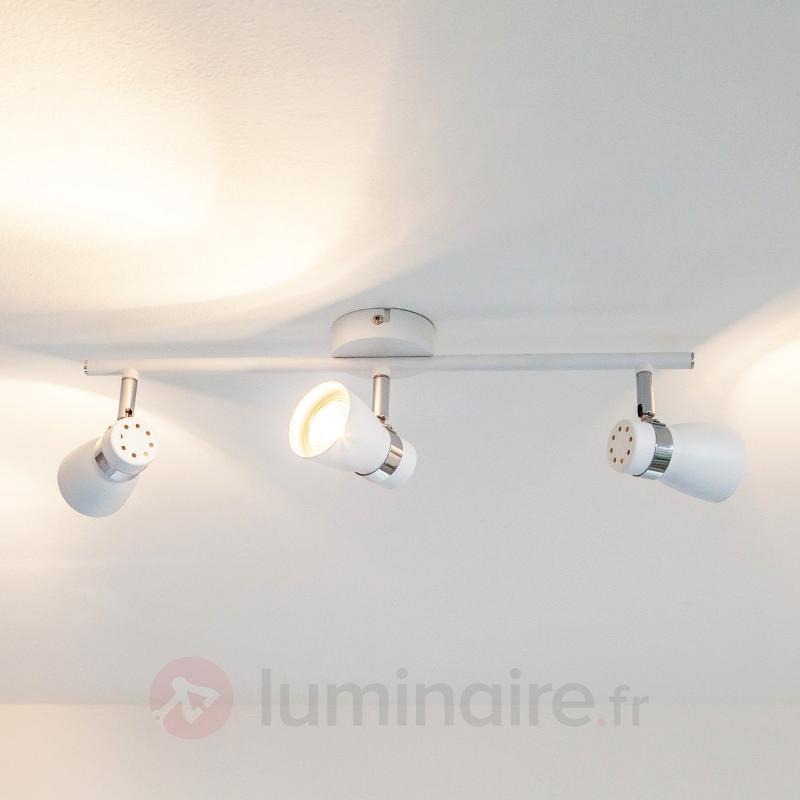 Plafonnier LED Arjen à 3 lampes, blanc - Plafonniers LED