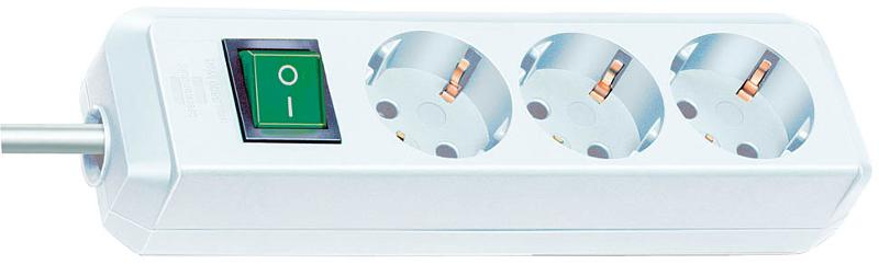 Eco-Line extension socket with switch 3-way white 1,5m - null