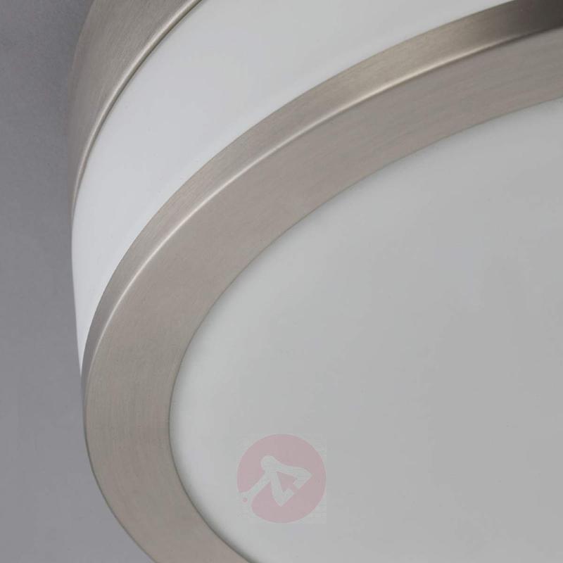LED bathroom ceiling lamp Flavi, matt nickel - Ceiling Lights