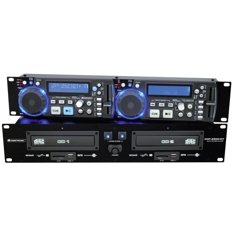 CD-Player mit MP3 Funktion - Omnitronic XDP-2800MT Dual-CD-/MP3-Player