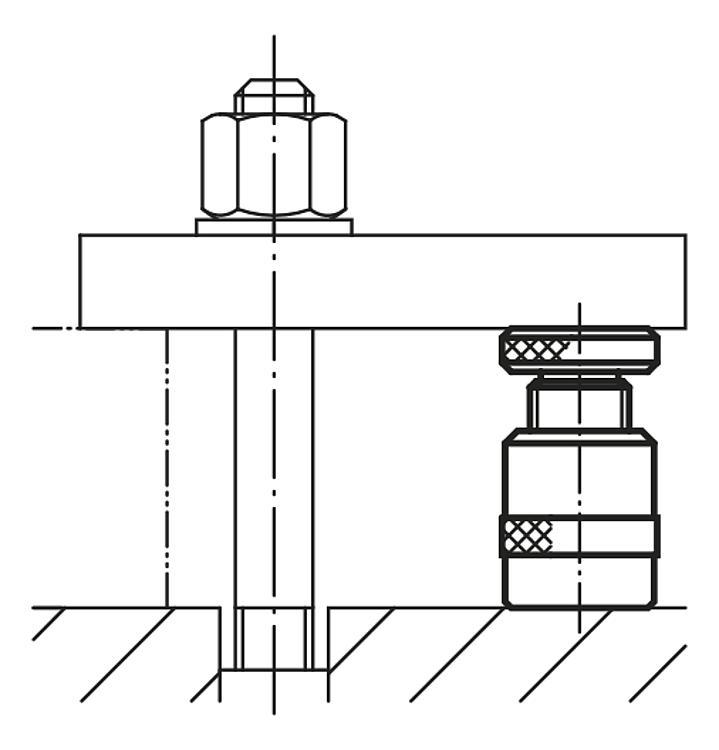 Screw Rest With Flat Face, Steel - Support elements