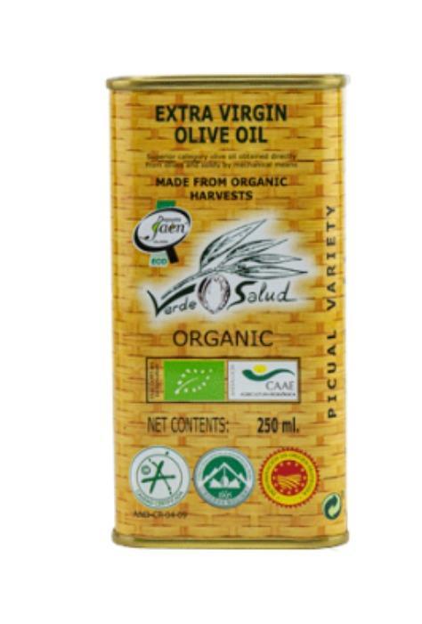 ACEITE DE OLIVA VIRGEN EXTRA ECOLÓGICO - VERDE SALUD - LATA