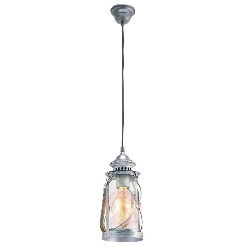 Fedor Silver Pendant Lamp with Antique Design - Pendant Lighting