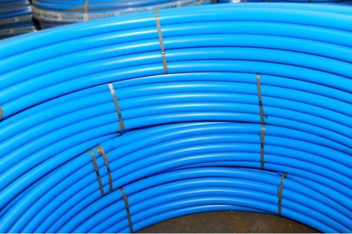 Труба полиэтиленовая пищевая Danaplast синяя - ПЭ-80