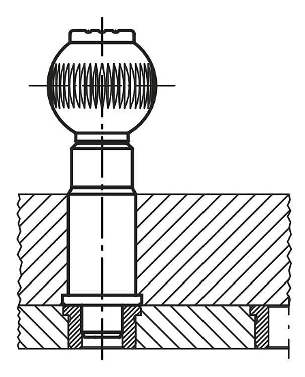 Douille cylindrique - Doigt d'indexage à corps lisse