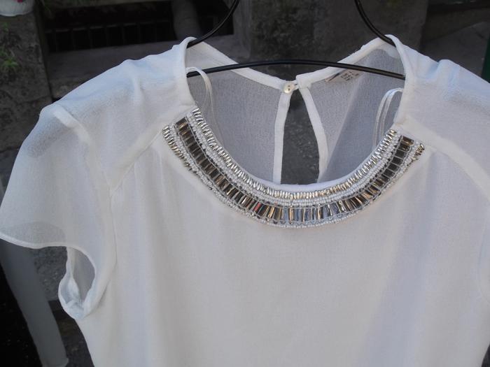 Ladies Round Collar embroidered Dress