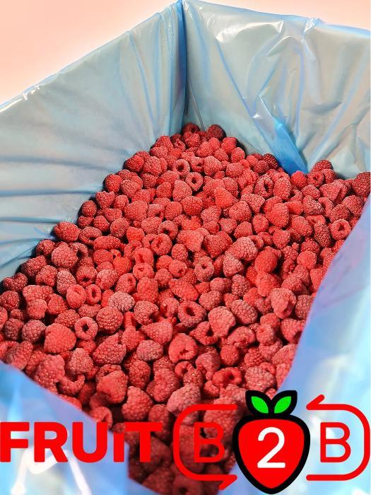 Raspberry 95/5 Whole - IQF Frozen Fruit  -