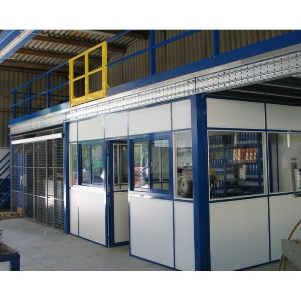 Plateforme de stockage et mezzanine industrielle - Plateforme avec bureau