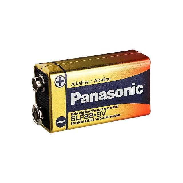 BATTERY ALKALINE 9V - Panasonic - BSG 6LF22XWA/B