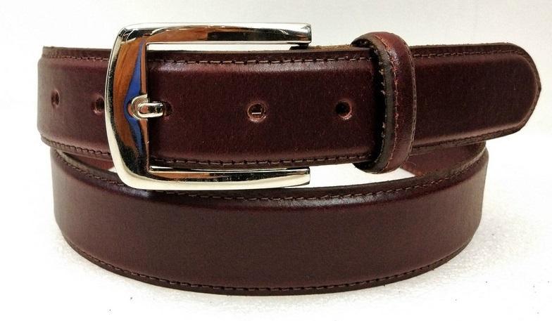 Leather Belt 04 - Cherry colour Formal Men's Leather Belt