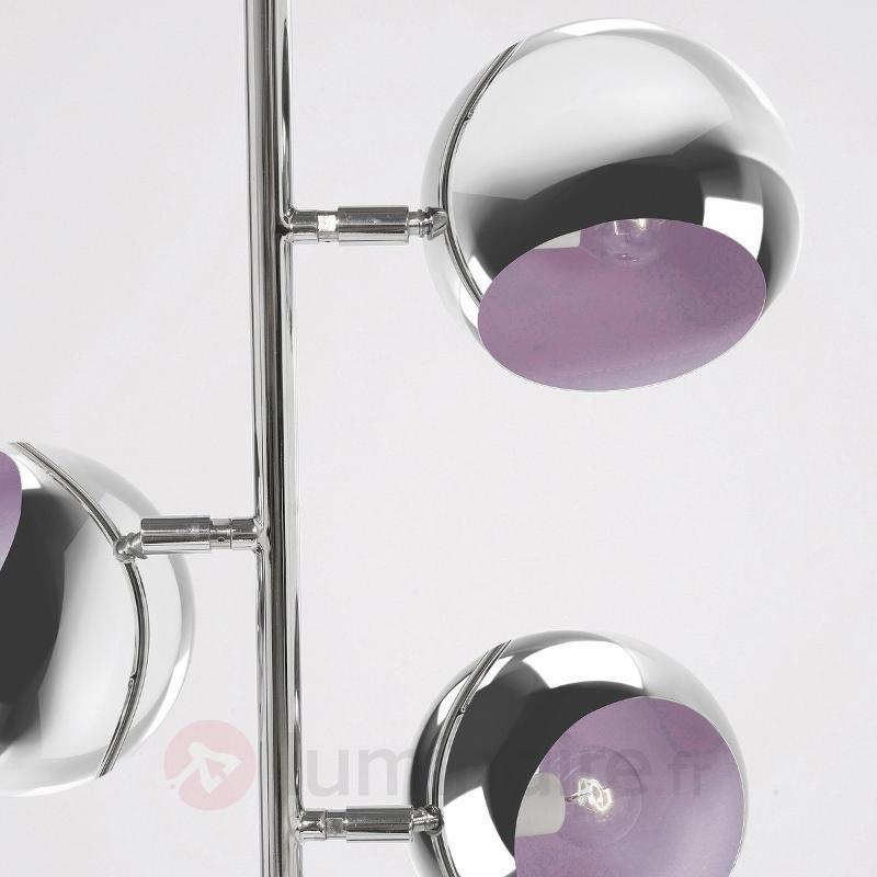 Lampadaire rétro chromé CALOTTA à 3 spots - Tous les lampadaires