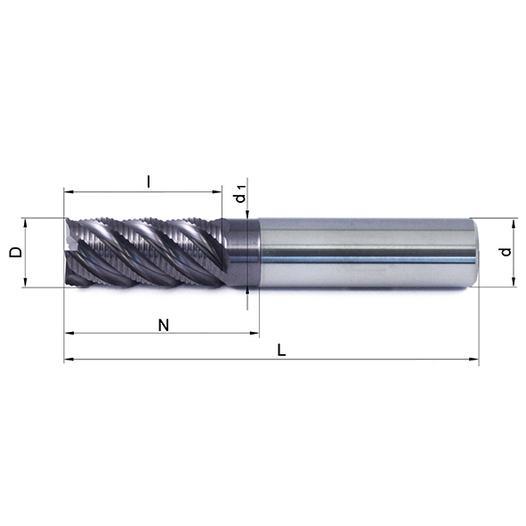 Vollhartmetallfräser VHM 547W-16 TS35 - null