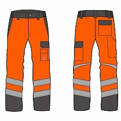 "HV-Bundhose ""HV-trast"" Orange/Grau - HOB-HV-trast ORANGE"