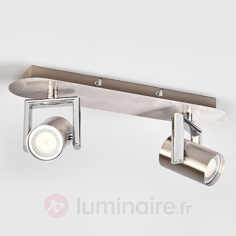Spot LED GU10 Luciana à deux lampes - Plafonniers LED