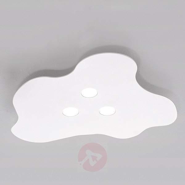 3-bulb LED ceiling light Nubes, white - Ceiling Lights