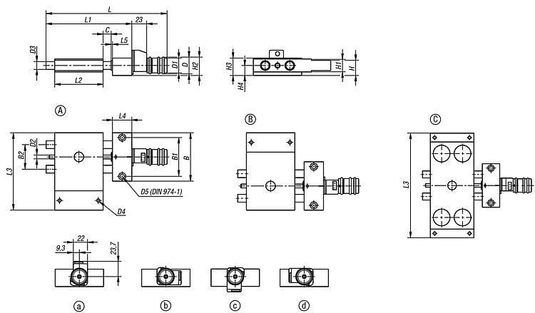 Table croisée courte avec indicateur de position - Système de positionnement