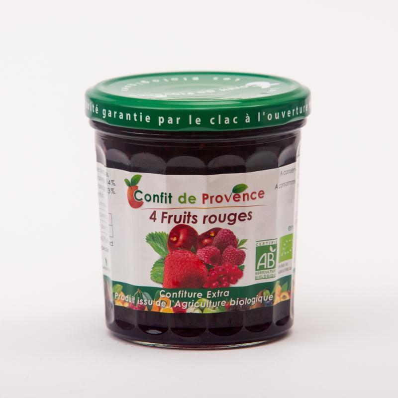 confiture de fruits rouges - Confitures biologiques fraise, framboise, groseille, cerise