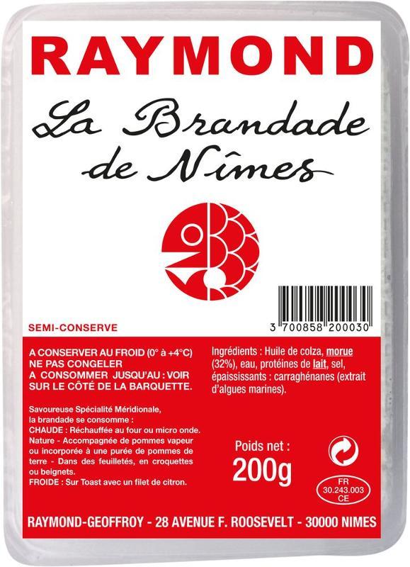 Brandade de Nîmes barquette 200g - Produits de la mer