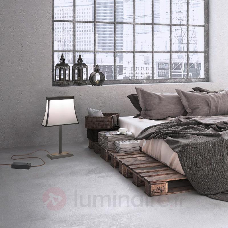 Abat-jour textile - grande lampe à poser LED Fancy - Lampes à poser rustiques