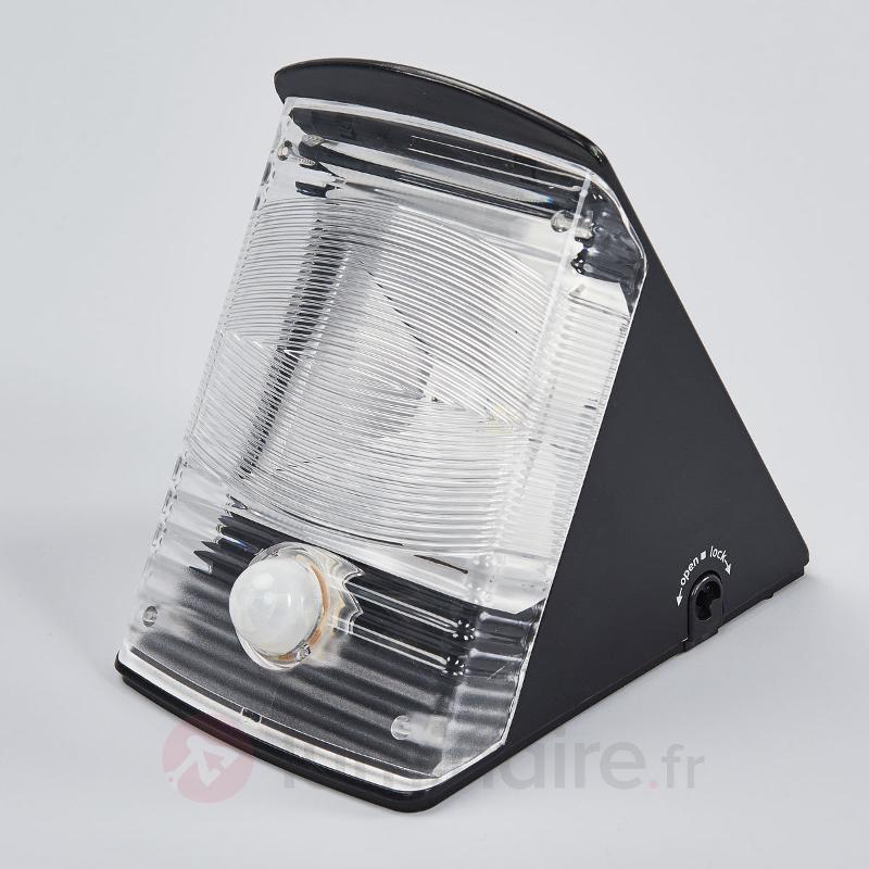 Applique LED solaire SOL 04 IP44 noir - Lampes solaires avec détecteur