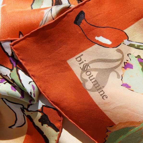 Carré/ foulard en soie - accessoire ligne parfumeur