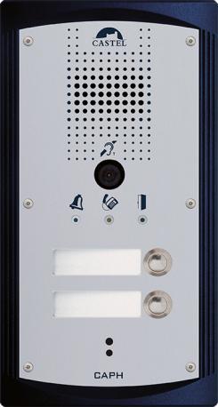 CAPH V2B - Portiers téléphoniques - Portier audio vidéo 2 boutons d'appel conforme loi Handicap