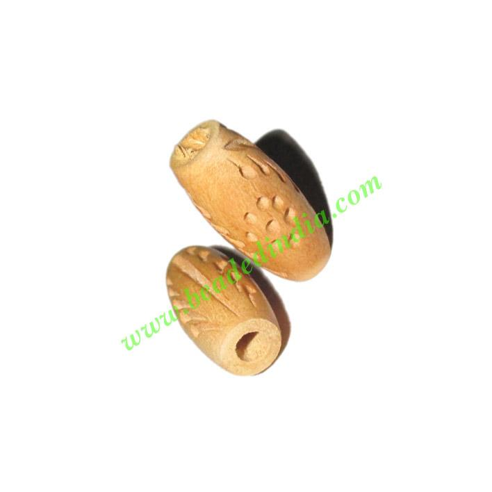 Natural Color Wooden Beads, size 9x19mm, weight approx 0.56  - Natural Color Wooden Beads, size 9x19mm, weight approx 0.56 grams