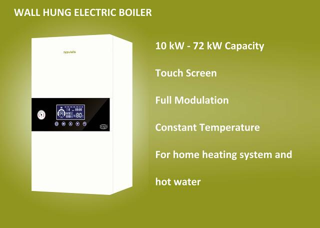 Wall hung electric boiler