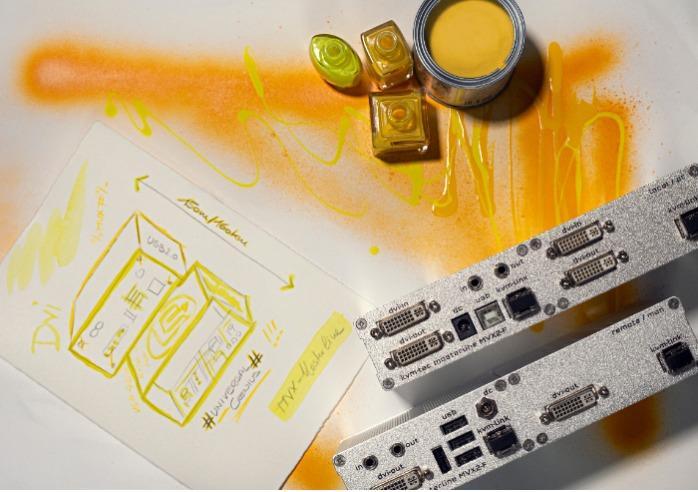 MASTERline dual in fiber - MASTERline Full HD KVM Extender over IP