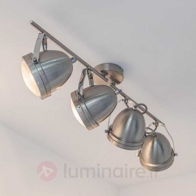 Plafonnier à spots LED à quatre lampes Jella - Plafonniers chromés/nickel/inox