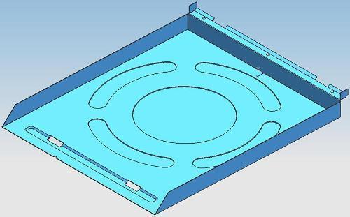 Кухня вентилятор задняя пластина прогрессивная форма - Кухня вентилятора задняя пластина