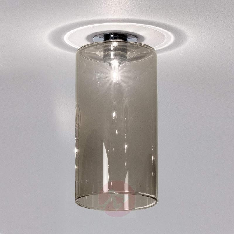 Spillray - installed light with grey glass shade - Low-Voltage Spotlights