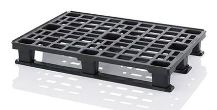 ESD lightweight pallets - ESD lightweight pallet 120*80 cm with 3 skids