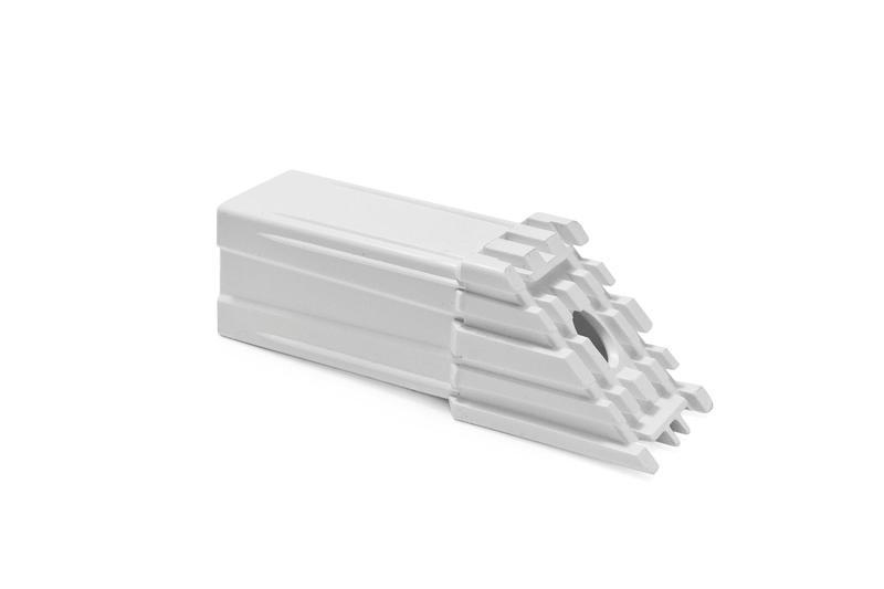 Tappo a saldare per infissi in PVC con tubolare da mm... - Accessori per assemblaggio