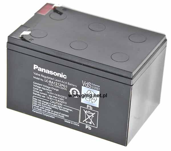 Akumulator PANASONIC agm żelowy 12V/12Ah LC-RA1212