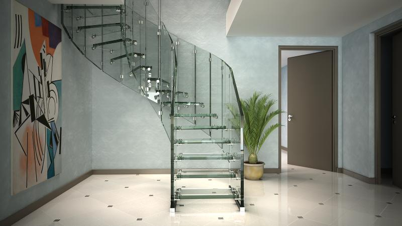 Glass stairs - Fly