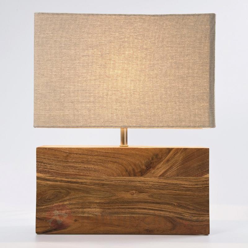 Lampe à poser avec pied en bois RECTANGULAR WOOD - Lampes à poser en bois