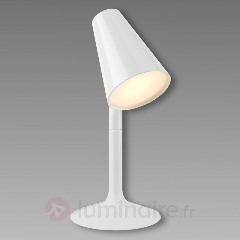 Lampe à poser LED rigolote Piculet blanc - Lampes à poser LED