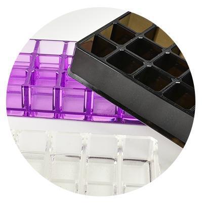 acrylique Container - Acrylique vitrine adopte la taille du diamant et présente l'aspect multi-angle