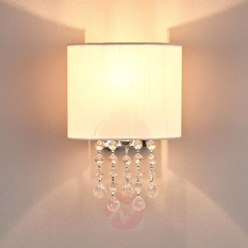Sleek Nina wall light with fabric lampshade - Wall Lights