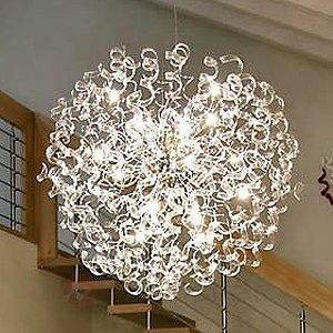 Suspension innovante CRYSTAL Boule, 115 cm - Suspensions en cristal