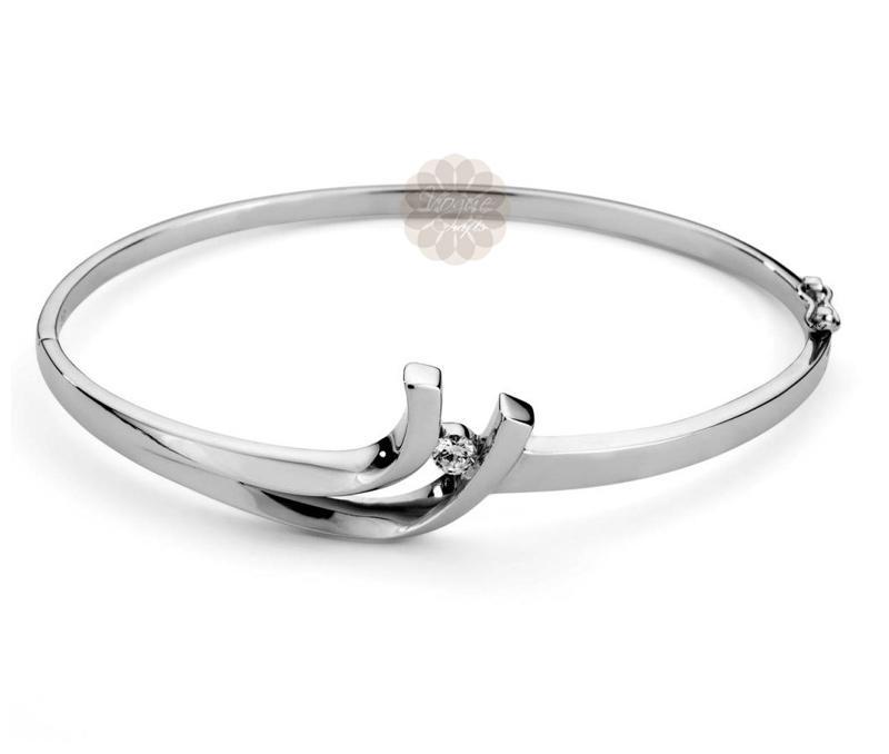 Designer Silver Bangle -