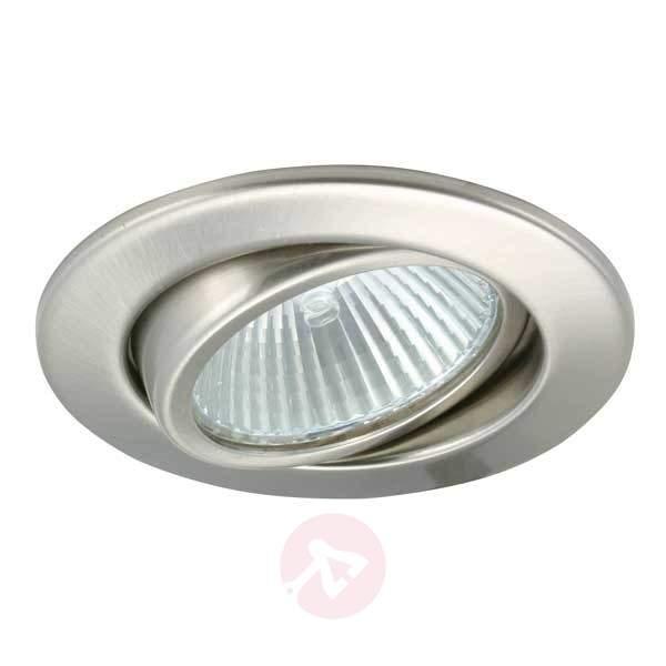 Brushed iron low volt recessed spotlight SVING - Low-Voltage Spotlights