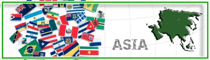 Bandiere Asia per abbigliamento - Bandiere ricamate da cucire o termoadesivare