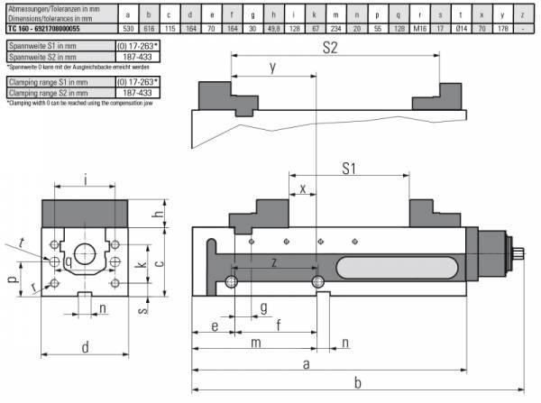 Version TC 160 MECHANISCH - Horizontal & vertikal einsetzbar – somit für vertikale & horizontale Fräscentren